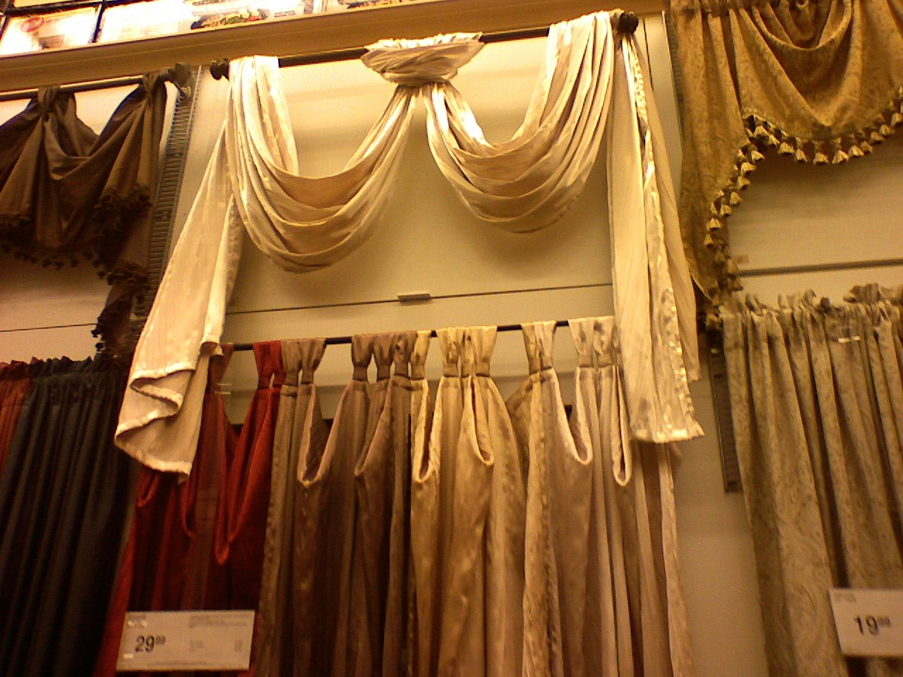 How To Hang A Scarf Valance On A Curtain Rod Scarf